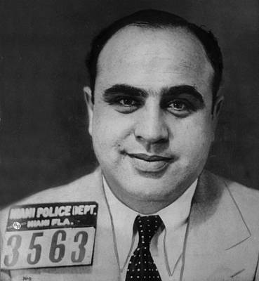 Photograph - Al Capone Mug Shot 1931 Vertical by Tony Rubino