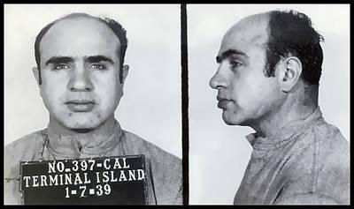 Big Al Photograph - Al Capone Mugshot  1939 by Daniel Hagerman