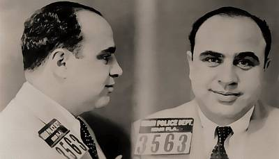 Police Mixed Media - Al Capone Mugshot by Dan Sproul