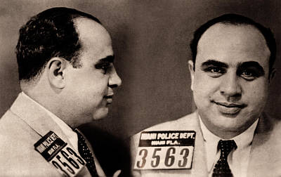 Photograph - Al Capone Mugshot - May 1930 by Daniel Hagerman