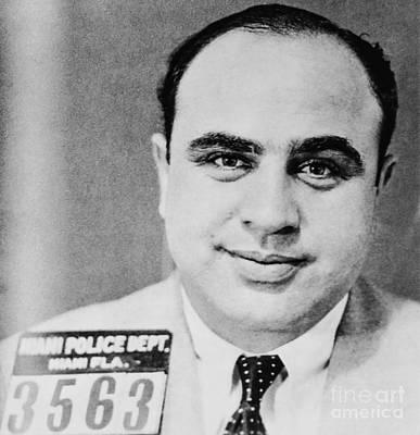 Al Capone Photograph - Al Capone Mugshot Miami Fl by Jon Neidert