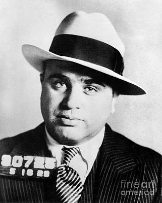 Capone Photograph - Al Capone Mugsot by Jon Neidert