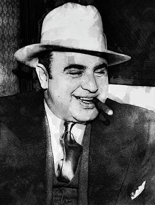Alcatraz Digital Art - Al Capone Prohibition Boss Of Chicago by Daniel Hagerman