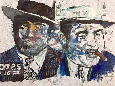 Painting - Al Capone  by Rooster Art