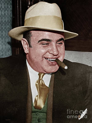 Photograph - Al Capone Scarface Mafia Crime Boss 20170628 by Wingsdomain Art and Photography