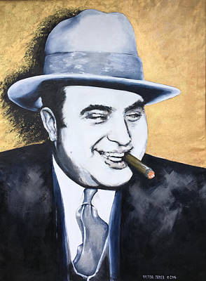 Painting - Al Capone by Victor Minca