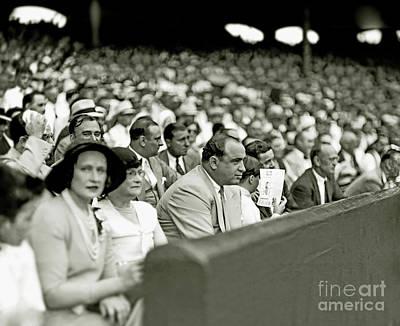 Al Capone Photograph - Al Capone Watches Baseball by Jon Neidert