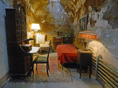 Punishment Digital Art - Al Capone's Cell - Eastern State Penitentiary Pa by Emmy Marie Vickers