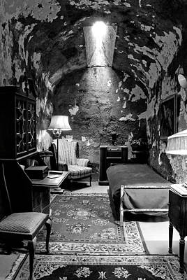 Photograph - Al Capones Cell In  Black And White by Paul W Faust -  Impressions of Light