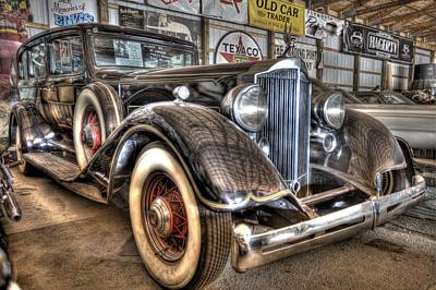 Lake Station Photograph - Al Capone's Packard by Nicholas  Grunas