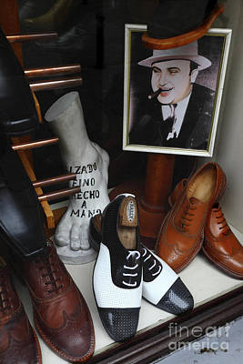 Mens Shoe Photograph - Al Capone's Shoe Collection by James Brunker