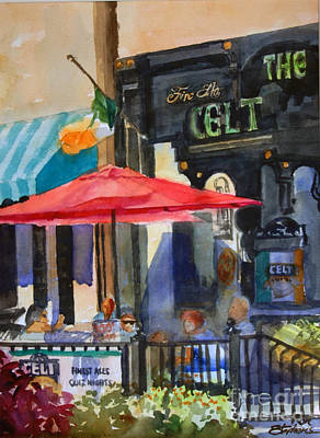 Painting - Al Fresco At The Celt by Ron Stephens