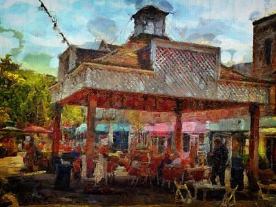 Digital Art - Al Fresco Dine by Leigh Kemp