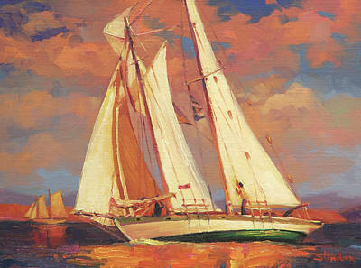 Sail Wall Art - Painting - Al Fresco by Steve Henderson