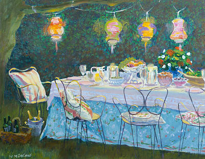 Dinner Party Invitation Painting - Al Fresco  by William Ireland