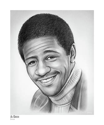 Drawing - Al Green 2 by Greg Joens