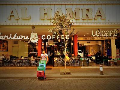 Photograph - Al Hamra Coffee Shop In Beirut  by Funkpix Photo Hunter