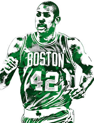 Al Horford Boston Celtics Pixel Art Art Print by Joe Hamilton