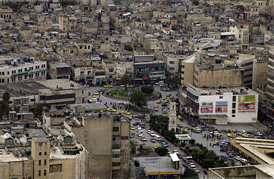 Photograph - Al-hussein Circle - Nablus by Isam Awad