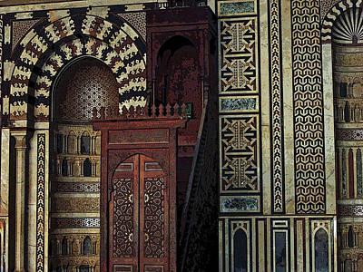 Photograph - Al-nasir Muhammad Mosque Interior by Debbie Oppermann