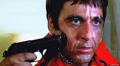 Mixed Media - Al Pacino @ Scarface #1 by Gabriel T Toro