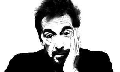Famous Actors Painting - Al Pacino Bnw  by Enki Art