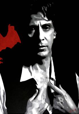 Cocaine Painting - Al Pacino by Hood alias Ludzska