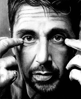 Drawing - Al Pacino by Rick Fortson