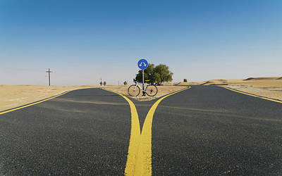 Photograph - Al Qudra Cycling Track Near Dubai In The United Arab Emirates by Alexandre Rotenberg