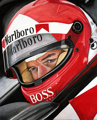 Indy Car Painting - Al Unser by Chad Krieger