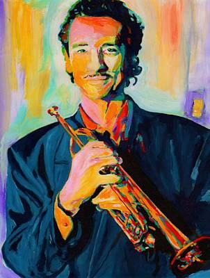 Trumpet Painting - Al Vizzitti by Vel Verrept