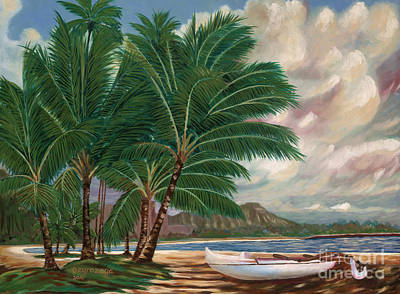 Painting - ala moana beach II by Larry Geyrozaga