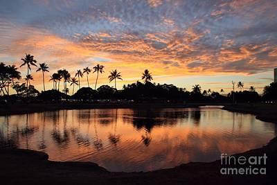 Ala Moana Sunset Art Print by DJ Florek
