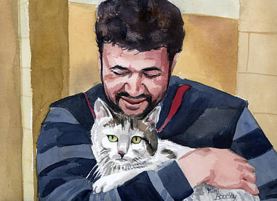 Painting - Alaa And Samson by Mimi Boothby