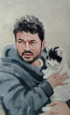Painting - Alaa With Zorro by Mimi Boothby