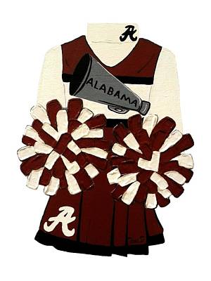 Alabama Cheerleader Original by Tami Dalton