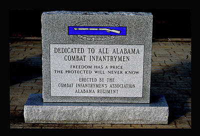 Photograph - Alabama Combat Infantrymen Monument by Lesa Fine