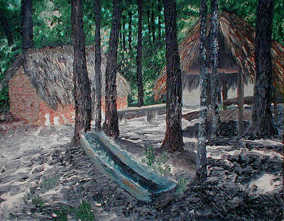 Alabama Creek Indian Village Art Print by Beth Parrish