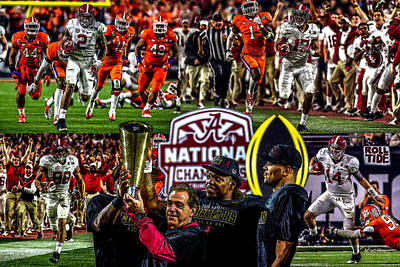 Bama Painting - Alabama Crimson Tide 1  Ncaa 2015 National Champions College Football by Rich image