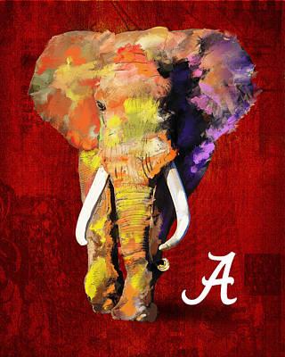 Alabama Crimson Tide 2 Art Print by Brent Rowlett