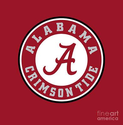 Painting - Alabama Crimson Tide by Jane Biven
