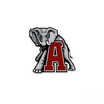 Painting - Alabama Elephant Logo 2 by Jane Biven