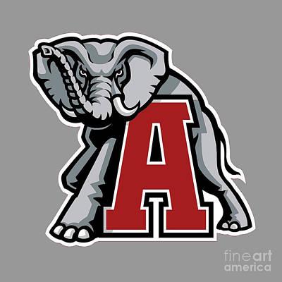 Painting - Alabama Elephant Logo 3 by Jane Biven