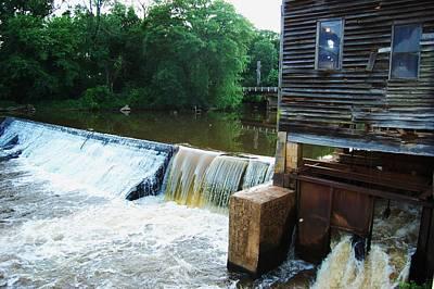 Alabama Grist Mill Dam Art Print by Beverly Hammond