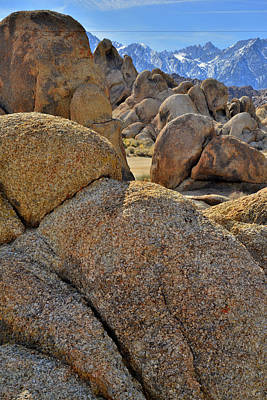 Photograph - Alabama Hills Boulders Near Lone Pine by Ray Mathis