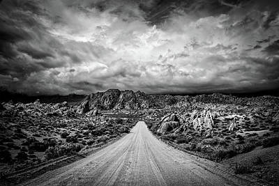 Hdr Landscape Photograph - Alabama Hills California by Peter Tellone