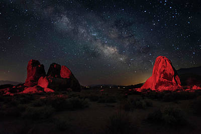 Photograph - Alabama Hills Milky Way Redlight by Scott Cunningham