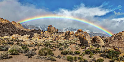 Photograph - Alabama Hills Rainbow by Peter Tellone