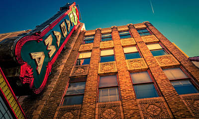 Photograph - Alabama Theater Sign 2 by Phillip Burrow