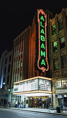 Alabama Theater Art Print by Stephen Stookey